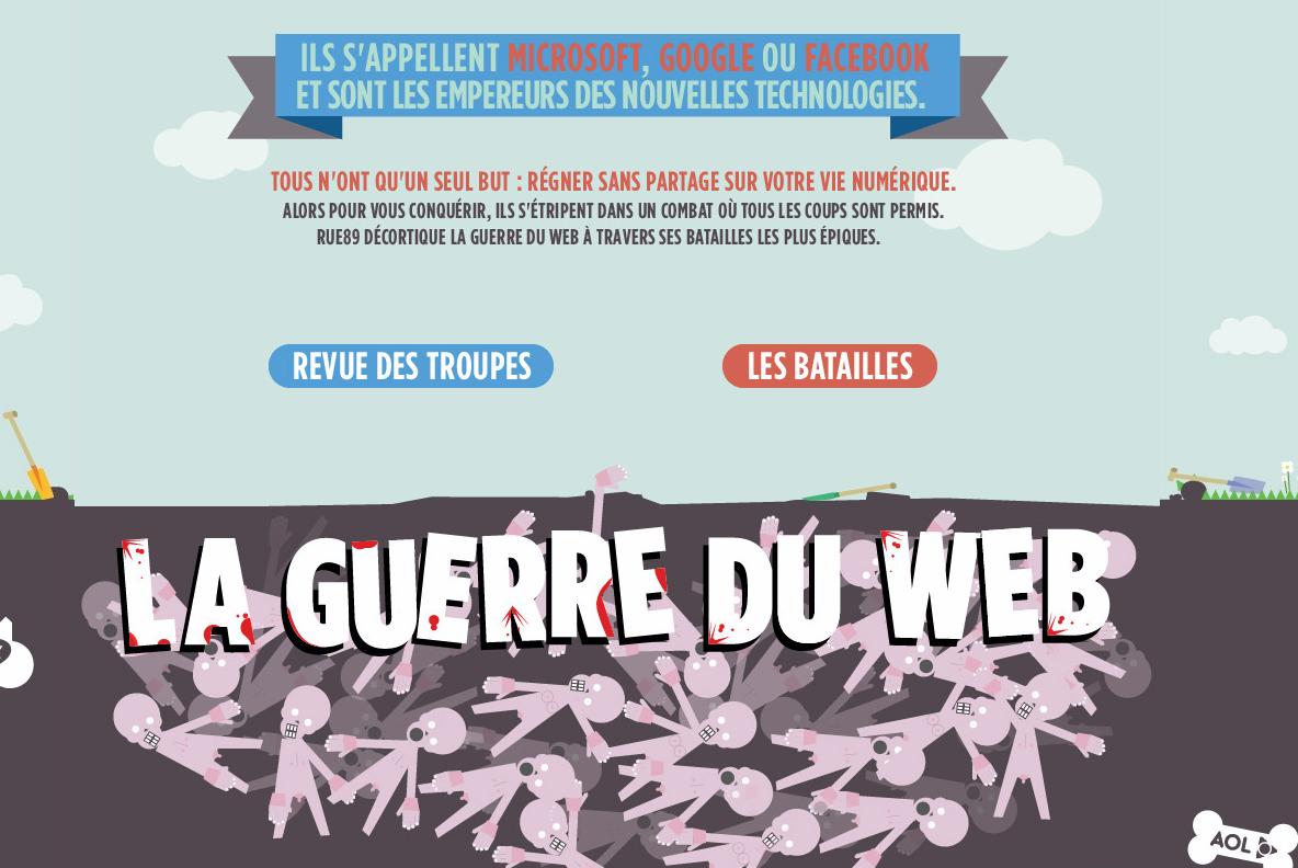 La guerre du web